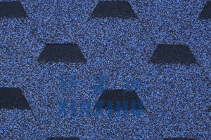 马赛克六角型玻纤沥青瓦-海洋蓝